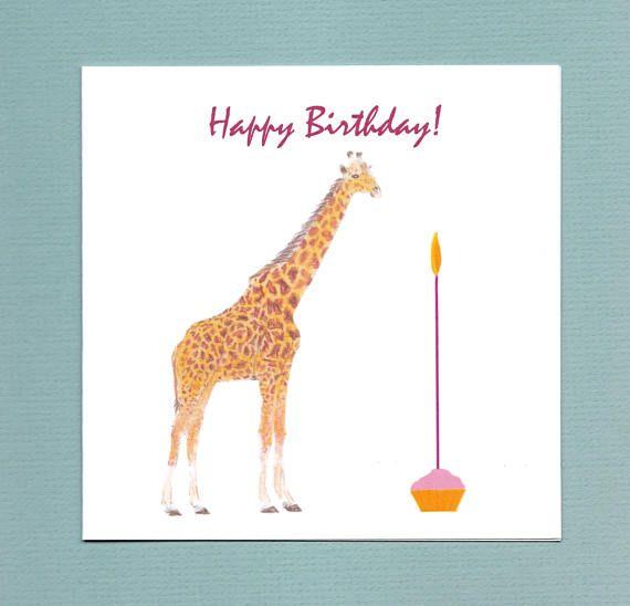 Giraffe Birthday Card Kaarten