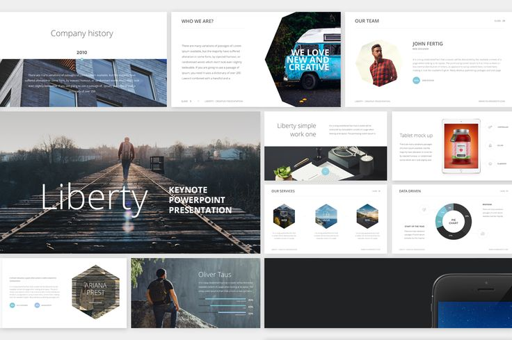 Liberty PowerPoint Presentation by Entersge on @creativemarket