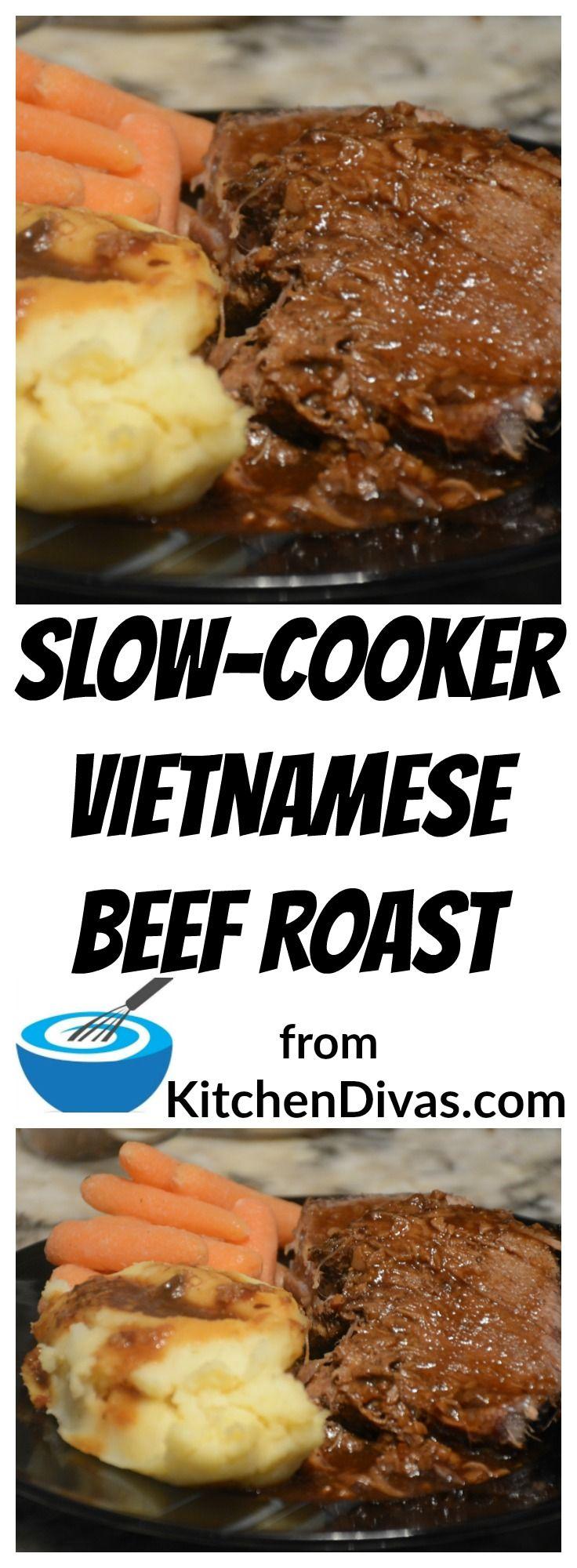 Slow-Cooker Vietnamese Beef Roast with teriyaki sauce
