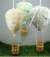 Προβολή λεπτομερειών για το Χειροποίητες μπομπονιέρες βάπτισης αερόστατο
