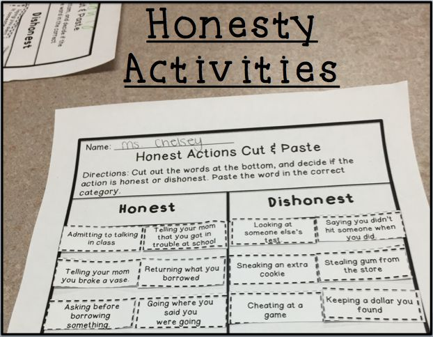 Activities to help students learn about honesty!