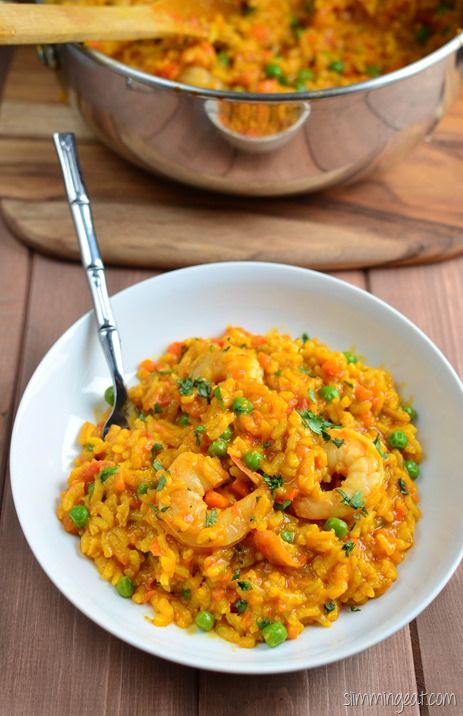 Slimming Eats Spicy Prawn and Vegetable Risotto - gluten free, dairy free, Slimming World and Weight Watchers friendly