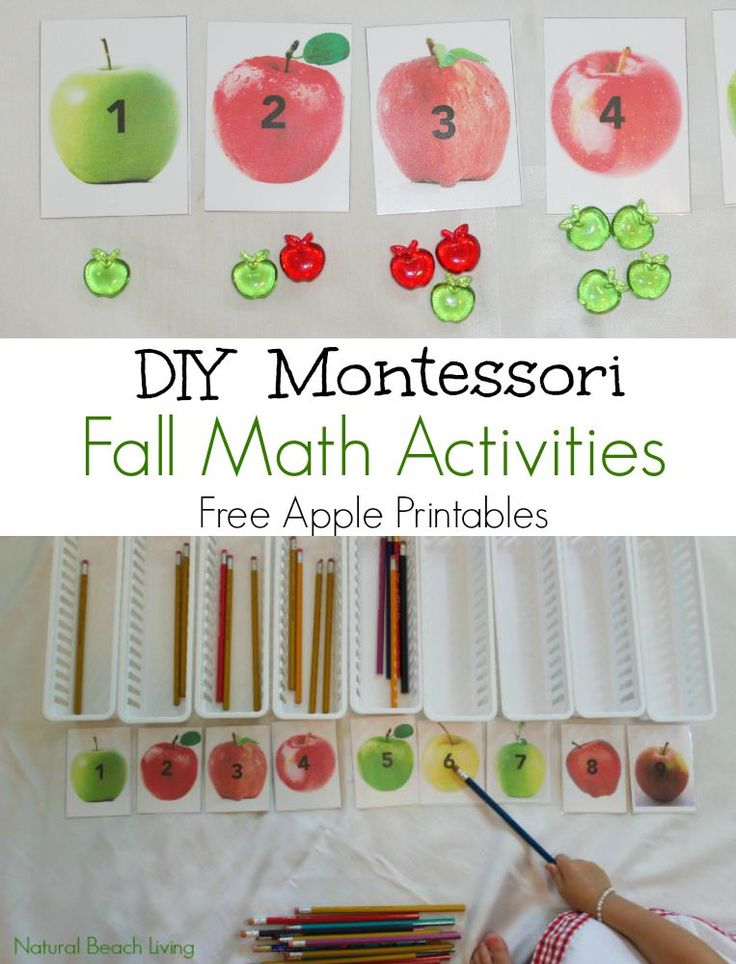 Fabulous Fall DIY Montessori Math Activities.If you love incorporating Montessori into your life this post will give you everything you need to get started.