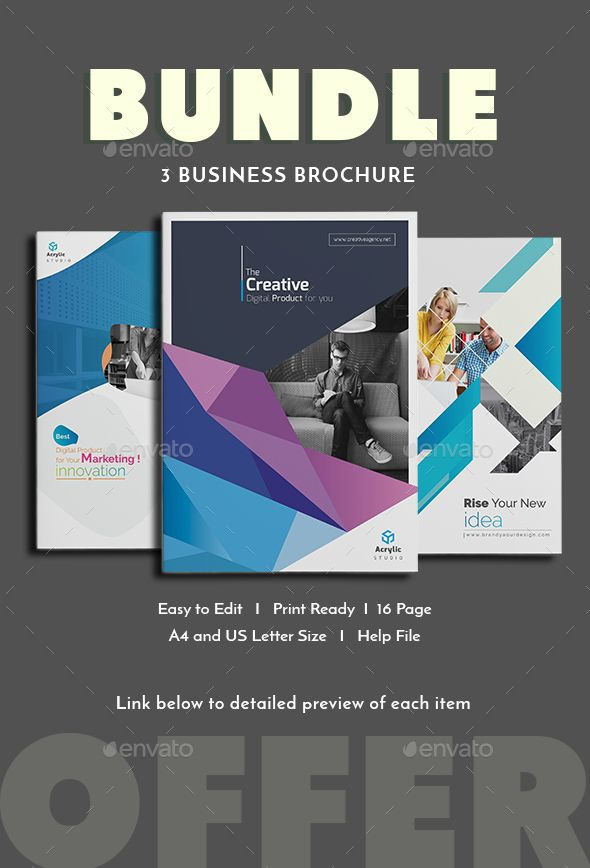 Bundle Brochure Template Indesign Indd A4 And Us Letter Size