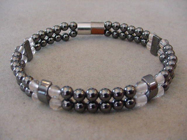 Magnetic Hematite Bracelet Double Strand  magnetic hematite bracelet Magnetic clasp Hematite cuff bracelet by Magicclosetbling on Etsy