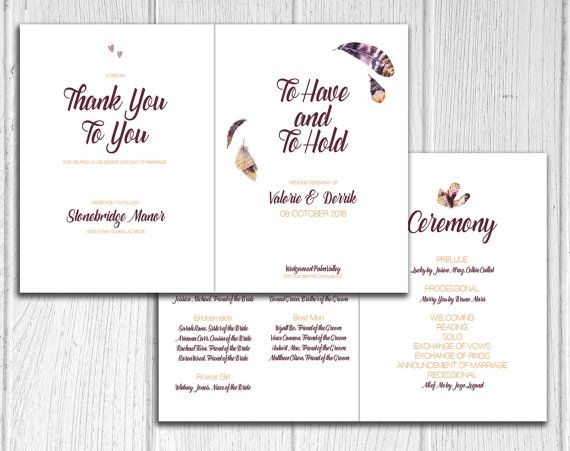 Best BiFold Wedding Programs Images On   Wedding