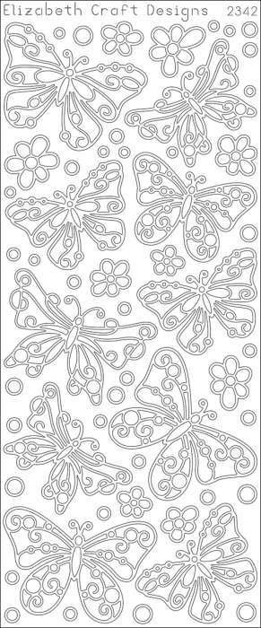 ELIZABETH CRAFT DESIGNS-Peel Off Outline Stickers: Butterfly. A great way to customize your craft and art projects! Use Peel Off... (see details) $1.99