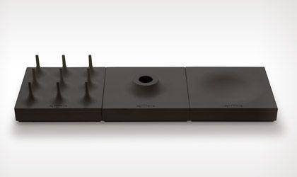 photo: METAPHYS stationery desk tray series 'soto', 'lago', 'volca'
