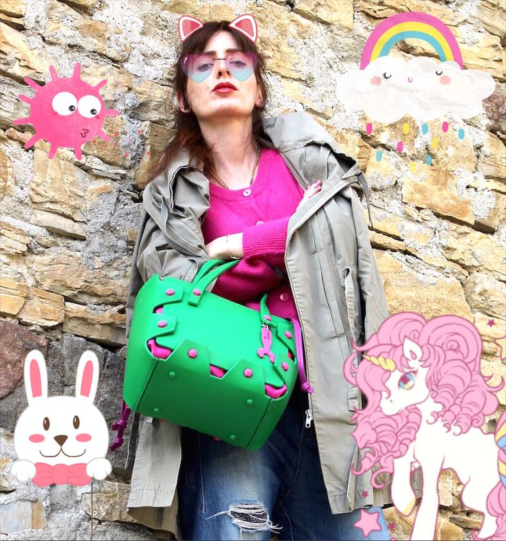 #hymy  #hymybag #streetstyle #ootd #fashion #casual #blogger #outfit #sporty #accessories #trend #ss16 #parka #green #funny #cartoon #comics