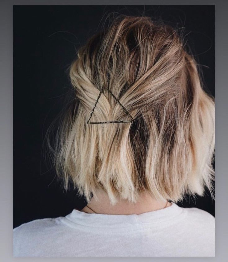 Bobby pin triangle  – Short HairStyles