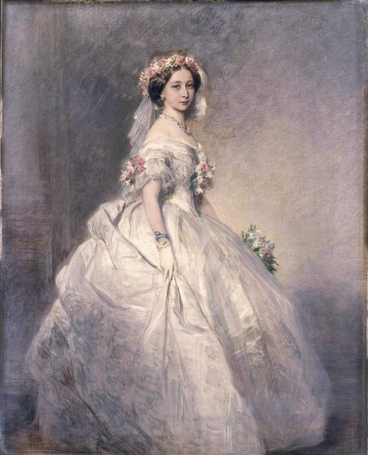 """Queen Victoria in her Wedding Gown,""by Franz Xaver Winterhalter (1805-1873,German)"
