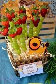 Lion Baby Shower Fruit Kabob Decoration