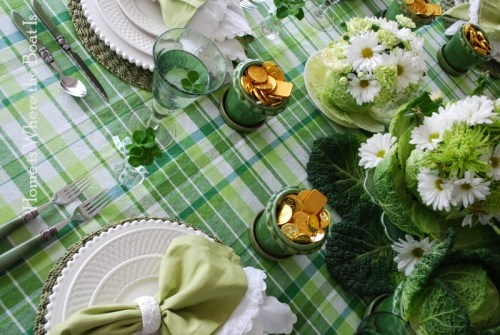 St Patrick day table