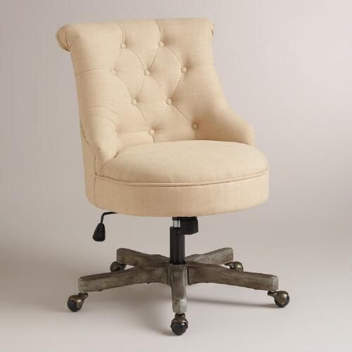 One of my favorite discoveries at WorldMarket.com: Natural Elsie Upholstered Office Chair. $230 plus $25 shipping.