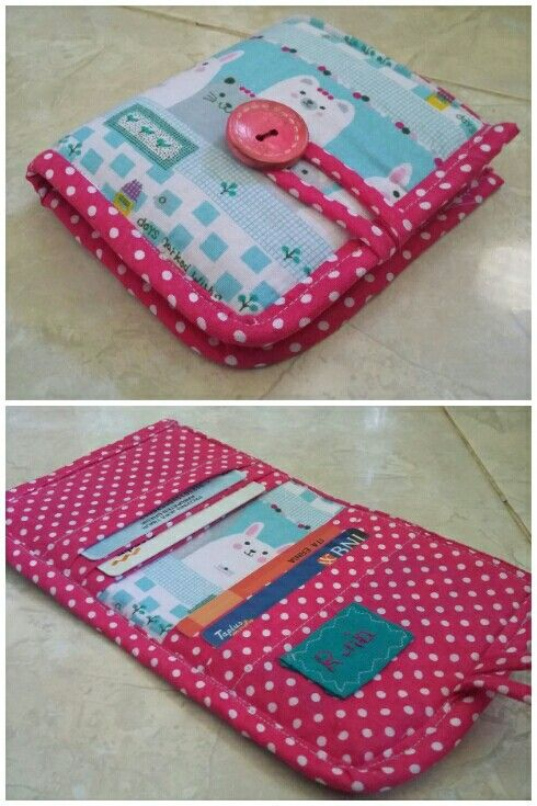 My first sewing wallet, love it so much. Diy, pink blue, handmade, @itaernia,