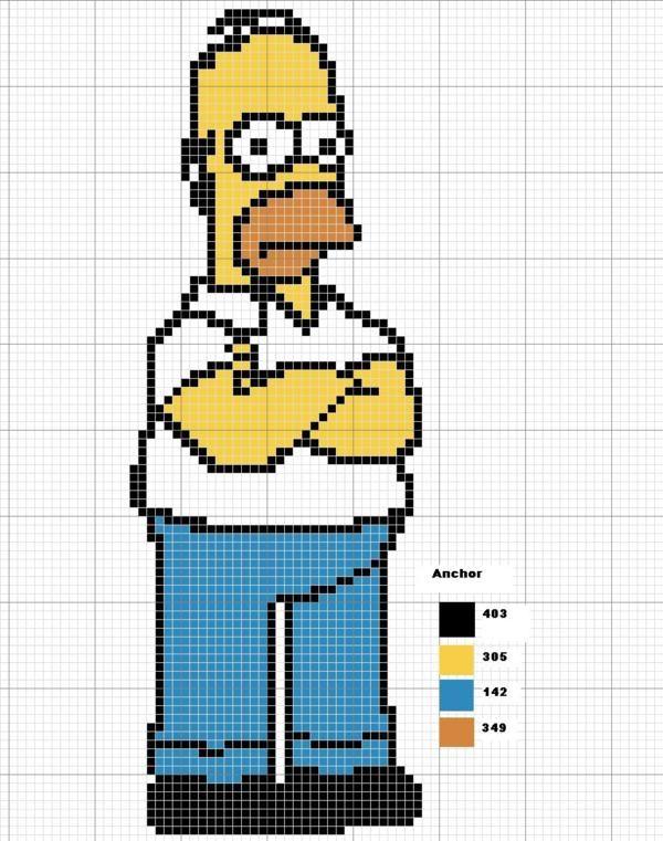 Homer Simpson perler bead