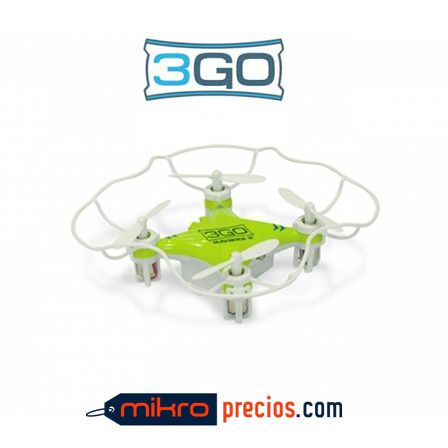 MINI DRON 3GO MAVERICK-2 - CUADRICOPTERO - ALCANCE 20-30M - AUTONOMIA 5-7MIN - AJUSTE AUTOMATICO - GIROS 360º