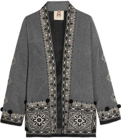 Figue - Haveli Embellished Wool And Cashmere-blend Jacket - Gray