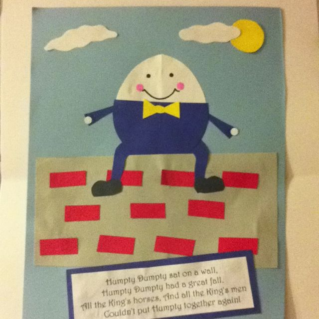 humpty dumpty craft ideas 82 best nursery rhymes images on 4724