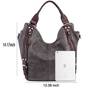 9d888b50e9 Amazon.com  JOYSON Women Handbags Hobo Shoulder Bags Tote PU Leather Handbags  Fashion Large
