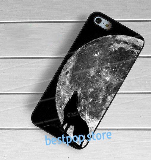 Полная луна волк силуэт животного моды аргументы за крышки iphone 4 4s 5 5S SE 5с 6 6 плюс 6 s 6 s плюс 7 плюс 7 # qb192