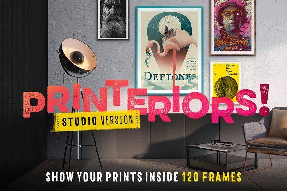 Printeriors Studio! Frame Mockups by Frisk Shop on @creativemarket