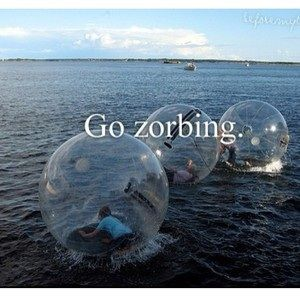 Go zorbing with friends