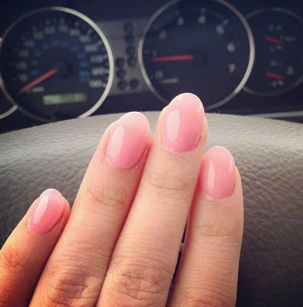Rounded tip nails...too cute