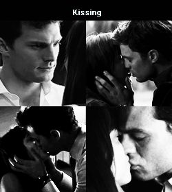 Jamie Dornan and Dakota Johnson Fifty shades of grey movie Kisses