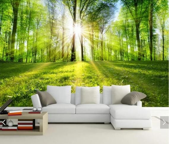 Sun Forest Tree View 3d Wall Murals Nature Wallpaper Mural Wall Mural Decal Printed Photo Wall Papers Home Wall Art Decorative Canvas Wall Painting Living Room Landscape Wallpaper Tree Design On Wall