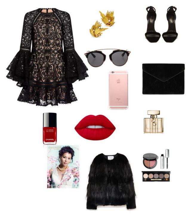 """Sin título #276"" by carolinaramirez-1 on Polyvore featuring moda, Alexis, Yves Saint Laurent, Rebecca Minkoff, Christian Dior, Lime Crime, Gucci y Bobbi Brown Cosmetics"