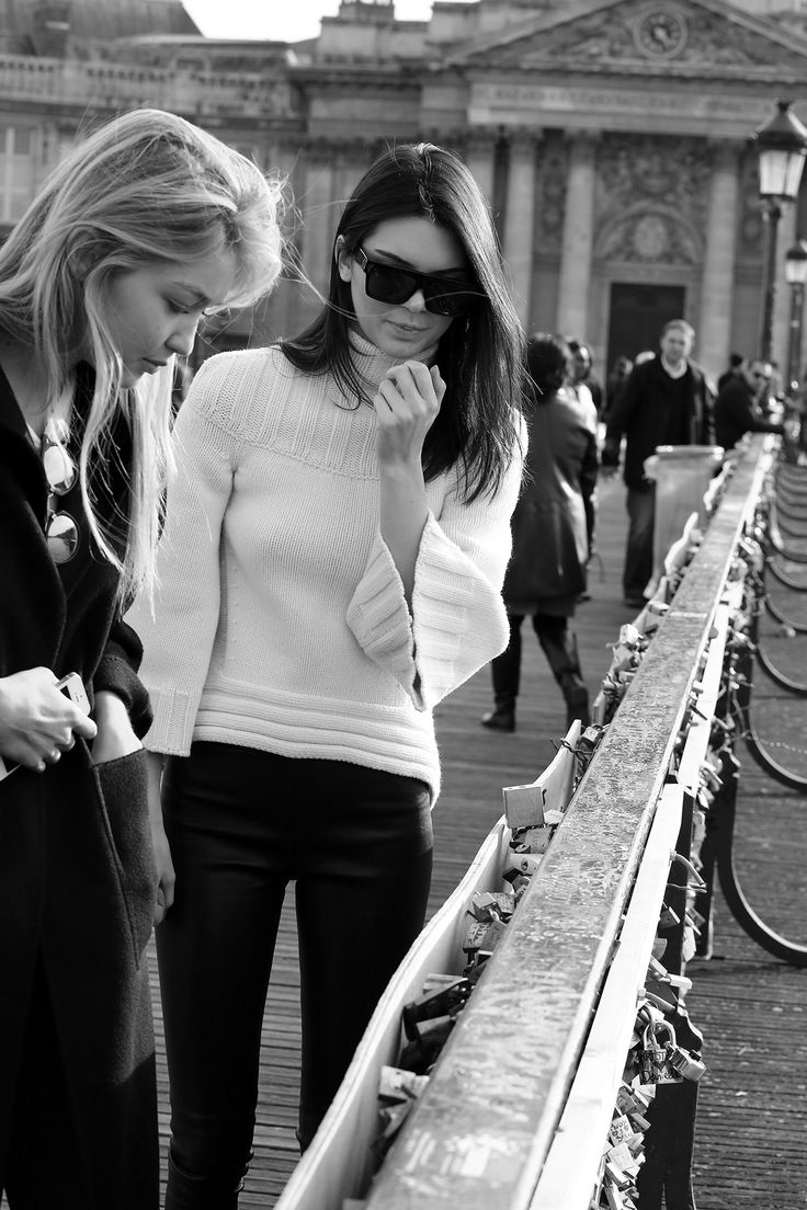 Kendall and Gigi in Paris