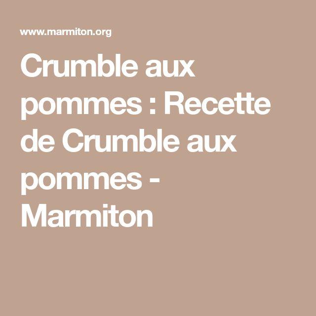 Crumble aux pommes : Recette de Crumble aux pommes - Marmiton