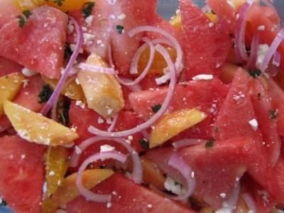 Watermelon, Orange, and Feta Salad by Every Little Thing