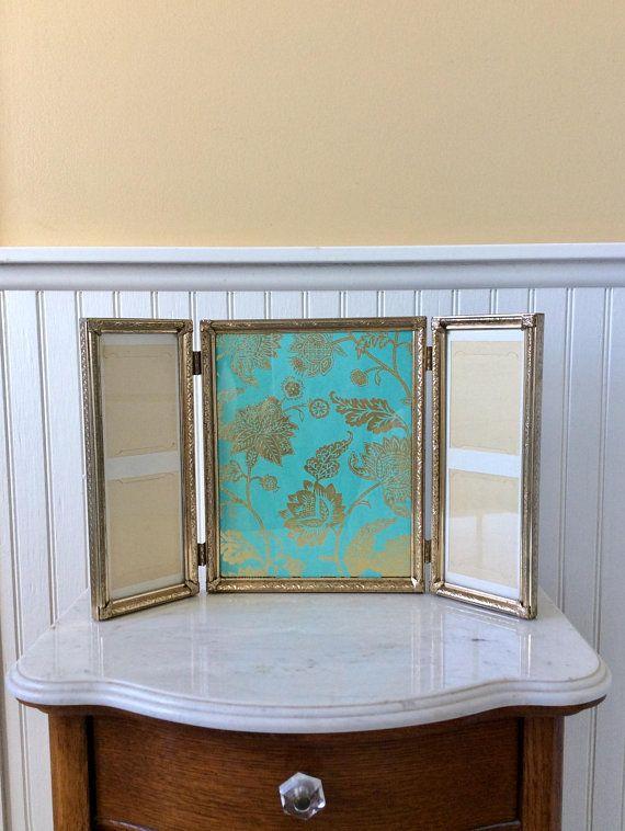 Vintage Tri Fold Frame Gold Ornate Frame 8 X 10 Frame Special