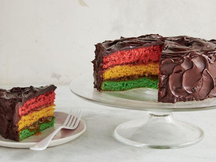 Italian Rainbow Cookie Cake recipe from Food Network Kitchen via Food Network