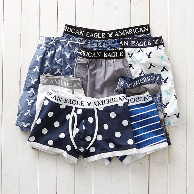 Indigo your own way in AEO boxers and trunks.