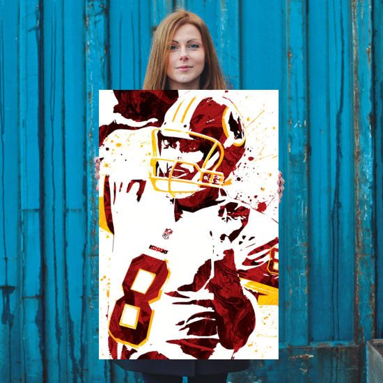 Kirk Cousins poster. Cousins is an American football quarterback for the…