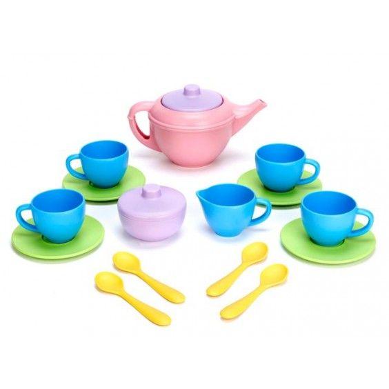 Green Toys - Eco Friendly Tea Set To complement our toy kitchen. #Entropywishlist #pintowin