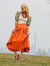 Karynne!!: Orange Skirts, Orange Marni, Fashion Vintage, Vintage Wardrobe, Spring Fashion, Leather Sandals, Fashion Tips, Vintage Stores, Marni Skirts