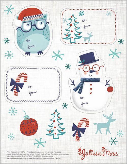 Free Printable Cute Christmas Gift Tags | Christmas ...
