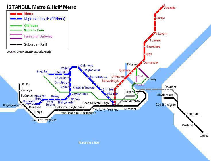 U-Bahn-Plan von Istanbul