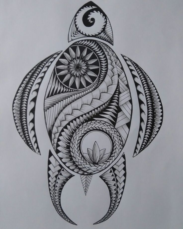 Turtle maori inspired