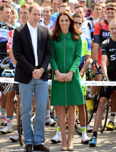 Duke and Duchess of Cambridge at the opening stage of the Tour de France