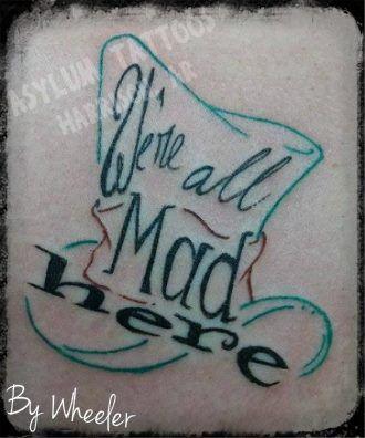 "Asylum Tattoos Harrison, AR - custom created Alice in Wonderland piece!! ""We're…"