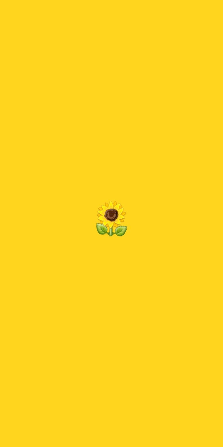 Basic yellow background with an emoji sunflower in the ...