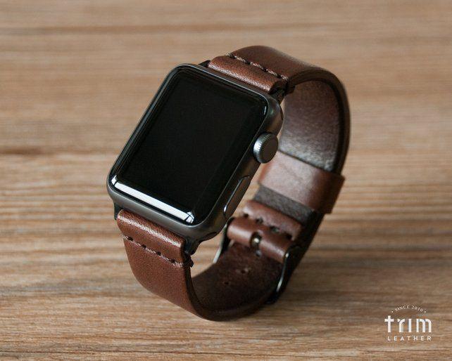 Apple Watch Band 42mm 38mm 44mm 40mm Frauen Manner Leder Uhr Etsy Apple Watch Bands Leather Apple Watch Bands Watch Bands