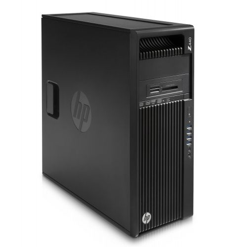 HP Z440 Mini-tower Workstation - 1 x Processors Supported - 1 x Intel Xeon E5-1650 v3 Hexa-core (6 Core) 3.50 GHz - Jack Black