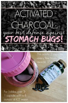Activated Charcoal and Stomach Bugs