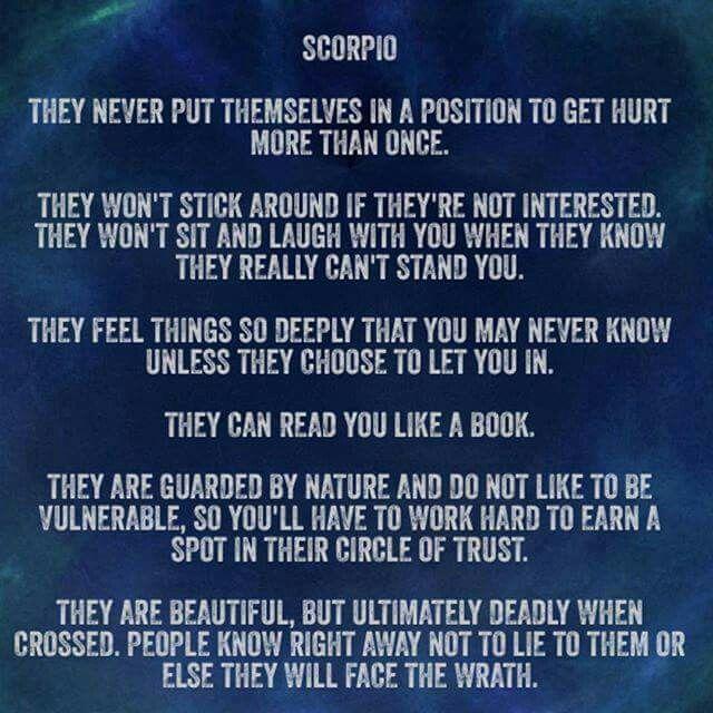 Scorpio... Spot on!